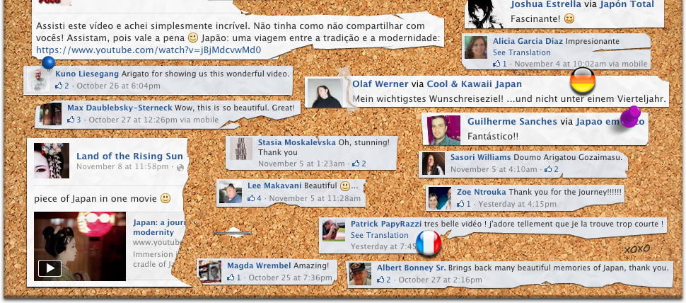 Facebook Fabulous Feedback Cork Board Collage Part 5
