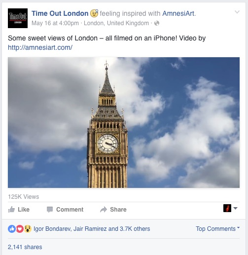 Time Out Liked our Video Portrait of London!